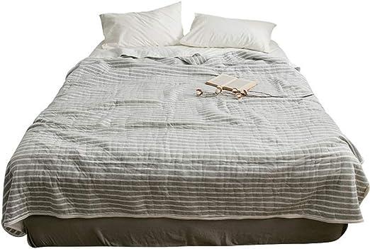 Colcha fresca de verano,Colcha de verano.Tejido de algodón Aire acondicionado artesanal de algodón de escorpión es japonés acolchado gris tiras cómodo edredón de verano transpirable (2.0 * 2.3 m): Amazon.es: Amazon.es