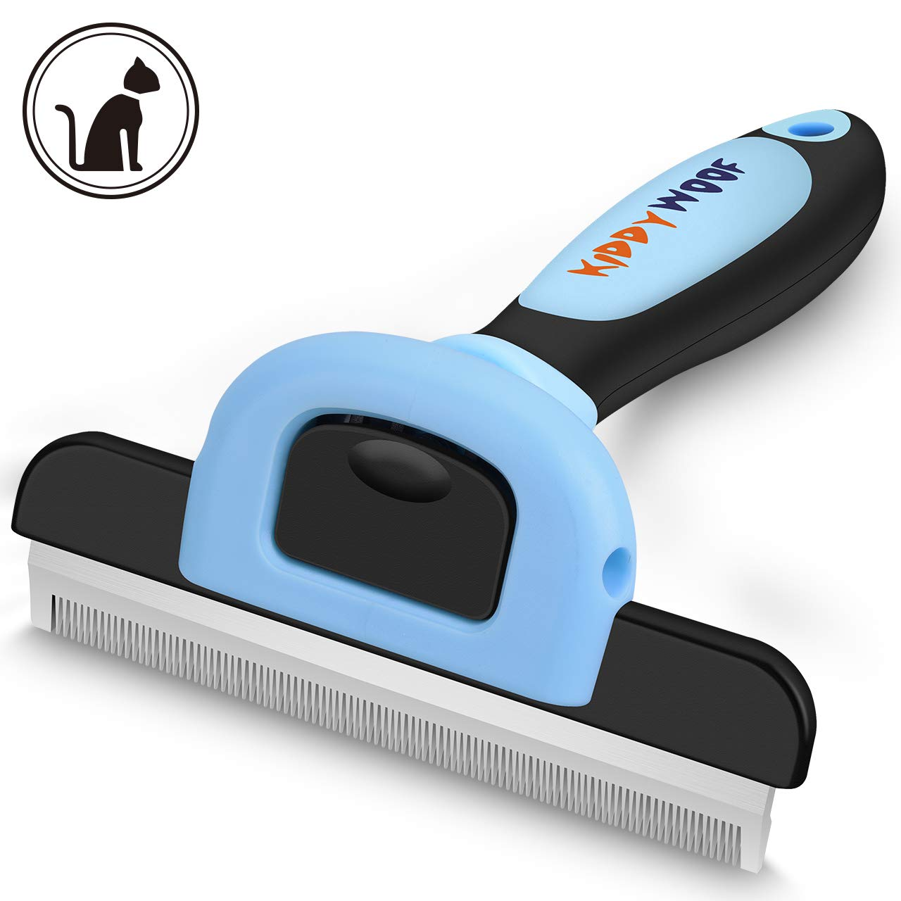 KiddyWoof Pet Grooming Brush for Dogs & Cats, Deshedding Tool with Setainless Steel Effectively Reduces Shedding Byup to 95%, Perfect for Short Or Long Hair, Small & Large Pets by KiddyWoof