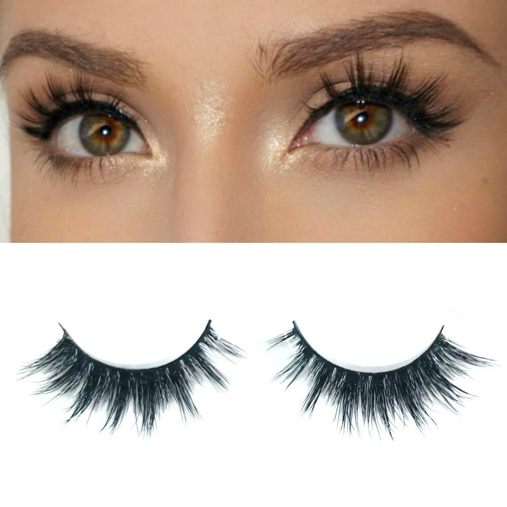 4b05d15ec58 Milanté BEAUTY Tease Real Mink False Lashes Black Natural Thick Long Full  Reusable Fake Strip Eyelashes