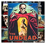 Pixiluv Mini Posters Set [13 Posters 8x11] Horror Zombies Undead Skull # Trash Movie Posters Reprint