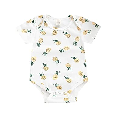 04ad17f6c Amazon.com: Tronet Romper Baby boy Clothes Summer Infant Baby Boys&Girls  Short Sleeve Pineapple Print Romper Bodysuit: Clothing