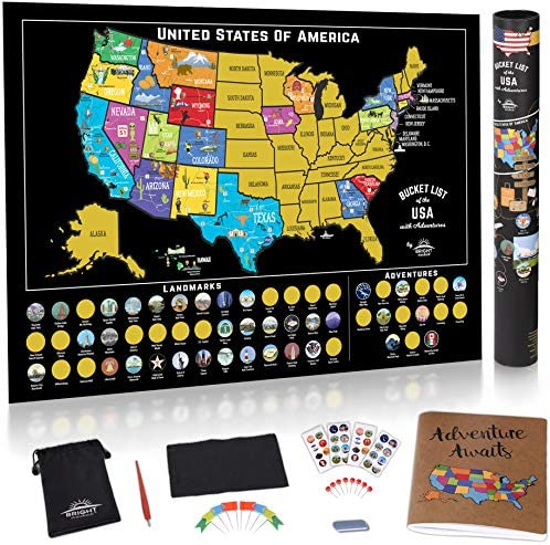 Scratch Off USA Map Poster product image