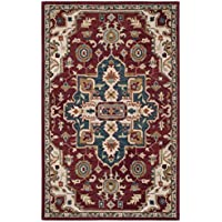Safavieh Aspen Collection APN507A Red and Blue Premium Wool Area Rug (4 x 6)