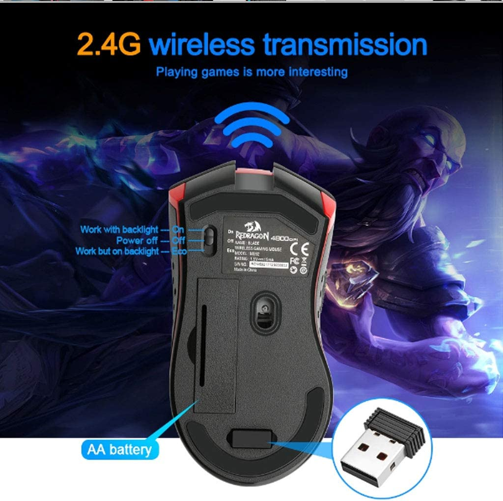 Artificial Flower Gaming Mouse 4800 DPI 9 Buttons Computer Ergonomic Design Mice Computer Gamer PC USB Wireless Gaming Mouse Optical Mouse for PC//Laptops//Computer