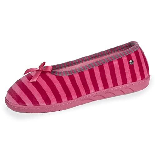 Isotoner Zapatillas Mujer Bailarinas Rayas, (Rosa (Framboise)), 41 EU: Amazon.es: Zapatos y complementos