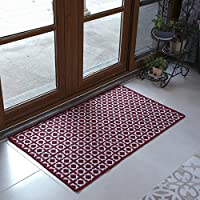 Vantextile Home Decor carpet,Living room Bedroom Red Area Rug,100% Sturdy microfibre polyester, Woven with pattern, Anti-static, Without lint, Floor heating suitable.(24x311, Red)