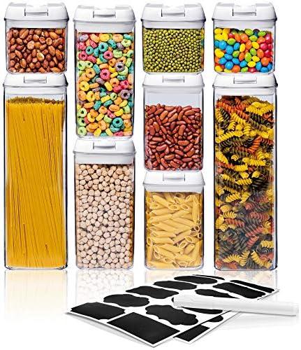 12 piezas de recipientes para almacenamiento de alimentos con tapa herm/ética MyChoice Snap-On con congelador y lavavajillas A prueba de fugas seguro para su uso en el microondas