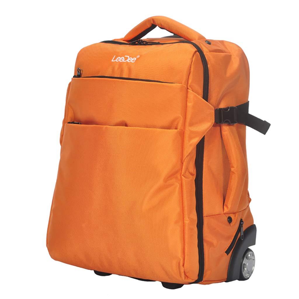 学校のラップトップバッグを旅する少年のためのトロリーバックパック大容量ストレージウィールドローリングバックパック防水旅の荷物 B07NMH2RNY