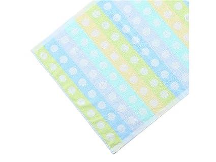 JUHKJHIK Wave Point algodón absorbente bebé saliva toalla toalla cara toalla espesar toalla cuadrada para niños