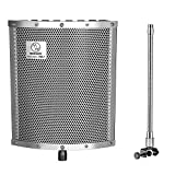Neewer® Lightweight and Portable Isolation Microphone Shield with Gooseneck Can be Used on Vocals, Drums, Guitar, Woodwinds or Any Acoustic Instrument