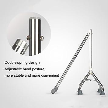 Crutches Muletas de Acero Inoxidable con Cuatro Patas Que se ...