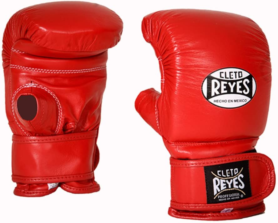Cleto Reyes Leather Boxing Bag Gloves Red