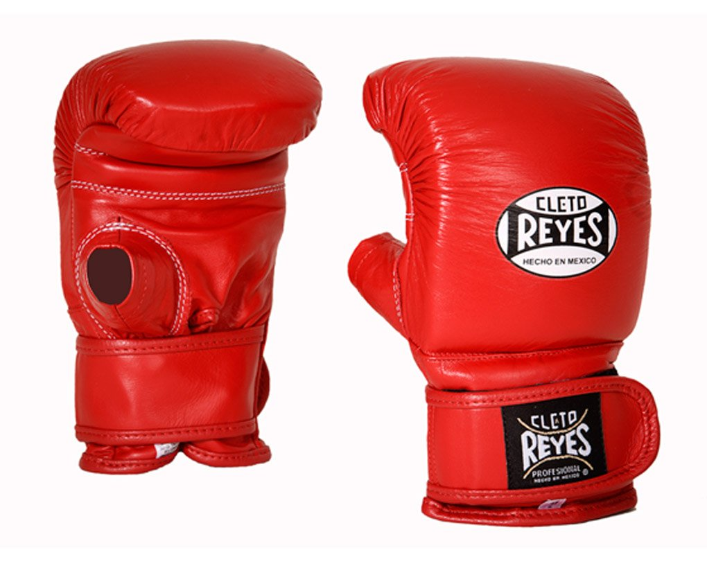Cleto Reyes Boxing Bag Gloves with Hook and Loop Closure - Medium - Red