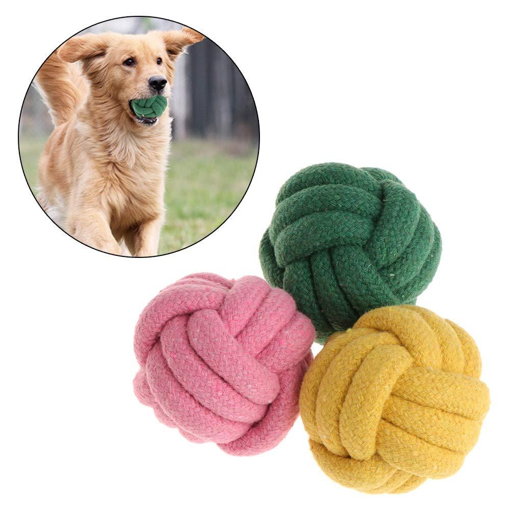 Gatti e Cuccioli interattivi. MoreLJ ❤Giocattoli per Animali Domestici in Corda a Forma di Pallina da Masticare per la Pulizia dei Denti di Cani