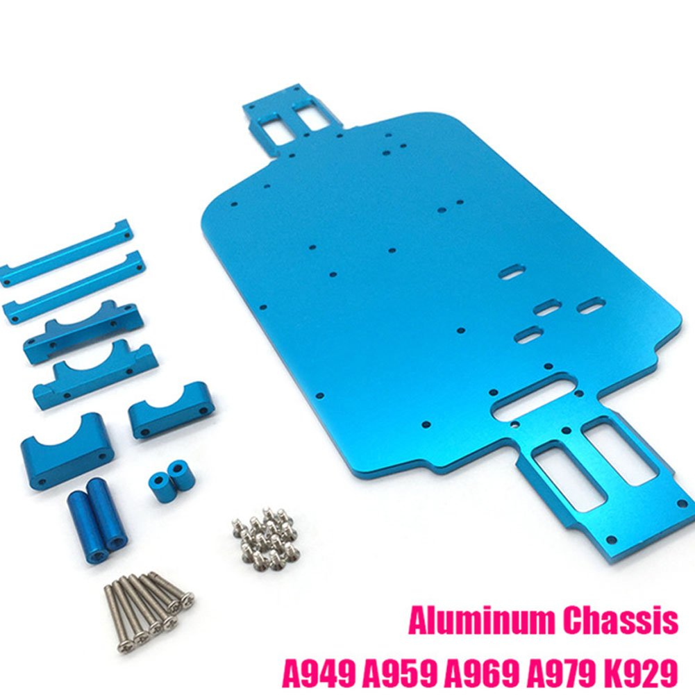 ETbotu Upgrade Metal Spare Parts Floor Chassis for Wltoys 1/18 A949 A959 A969 A979 K929 A959-B A969-B A979-B K929-B RC Car