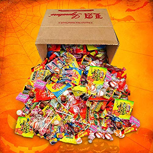 HUGE Assorted Candy PARTY MIX BOX 6.25 LBS/100 OZ Over 250 Individually Wrapped Candies like Skittles Lifesavers Haribo Starburst Fireballs Jolly Ranchers Sour Patch Dubble Bubble Swedish fish & MOR (Bulk Bags Candy)