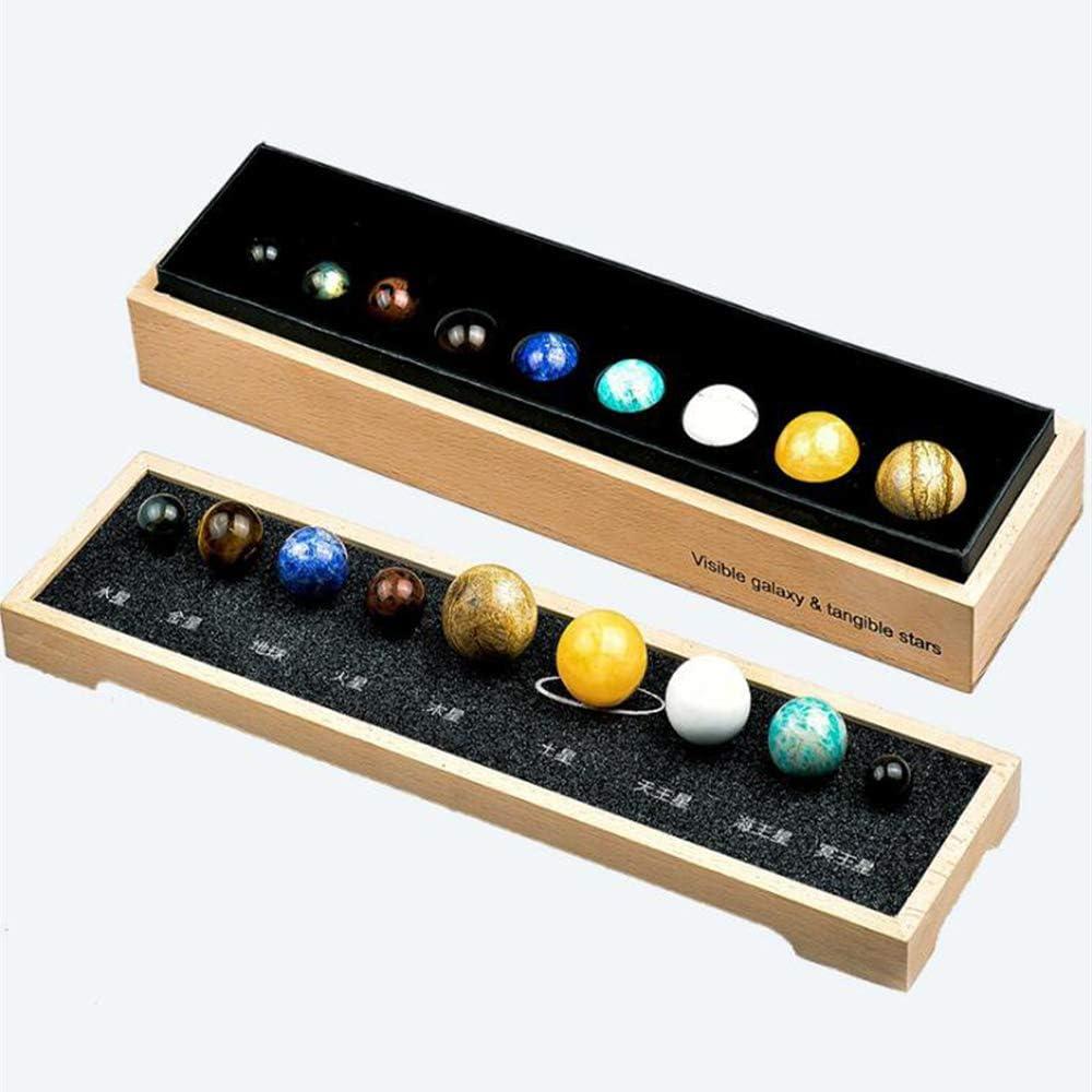 DingSheng - Bola de Cristal de Cuarzo Natural con Sistema Solar ...