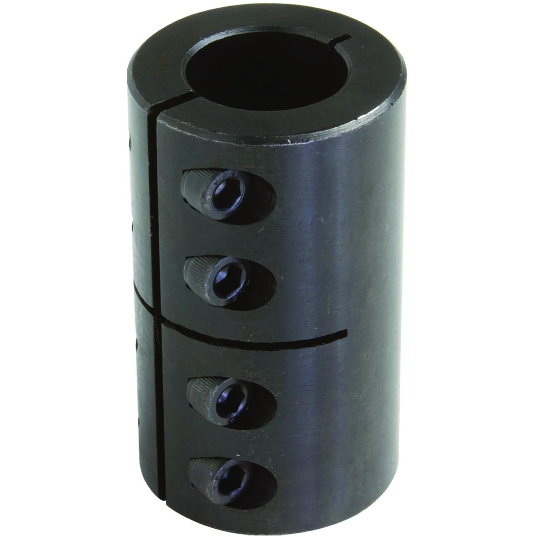 108 millimeters length Climax Part MISCC-40-40 Mild Steel 77 millimeters OD M 8 x 25 Clamp Screw 40 millimeters X 40 millimeters bore Black Oxide Plating Clamping Coupling