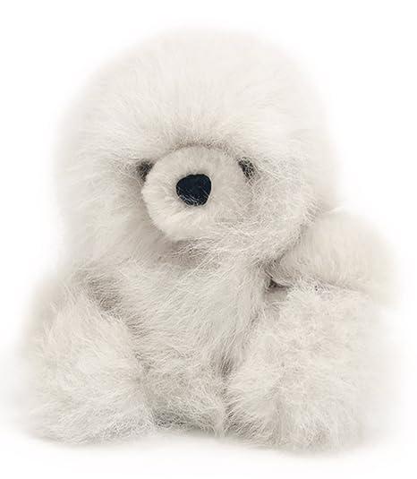 62fc603616f5fe Amazon.com: Baby Alpaca Fur Sitting Snowball Chubby Bear - Hand Made ...