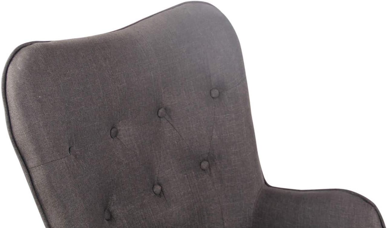 Couleurs:Gris Chaise Lounge Ashford en Tissu I Chaise Fauteuil pour Salon Ou Salle A Manger I Pi/ètement en Bois I Design Scandinave Couleur du Cadre:Natura