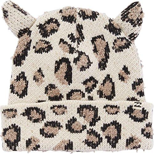 Billabong Cheetah - Billabong Big Girls' Funny Jokes Beanie with Ears, Cheetah, One