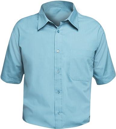 SOLS - Camisa de Popelina de Manga Corta para Trabajar Modelo Bristol Hombre Caballero - Trabajo/Fiesta/Verano