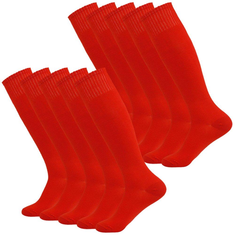 Fasoar SOCKSHOSIERY メンズ B075MWQXTR 10 Pairs-red 10 Pairs-red