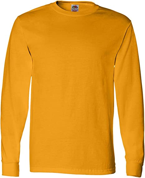 FoTL 4930 Mens Heavy Cotton Long-Sleeve Tee Small Natural 2 Pack