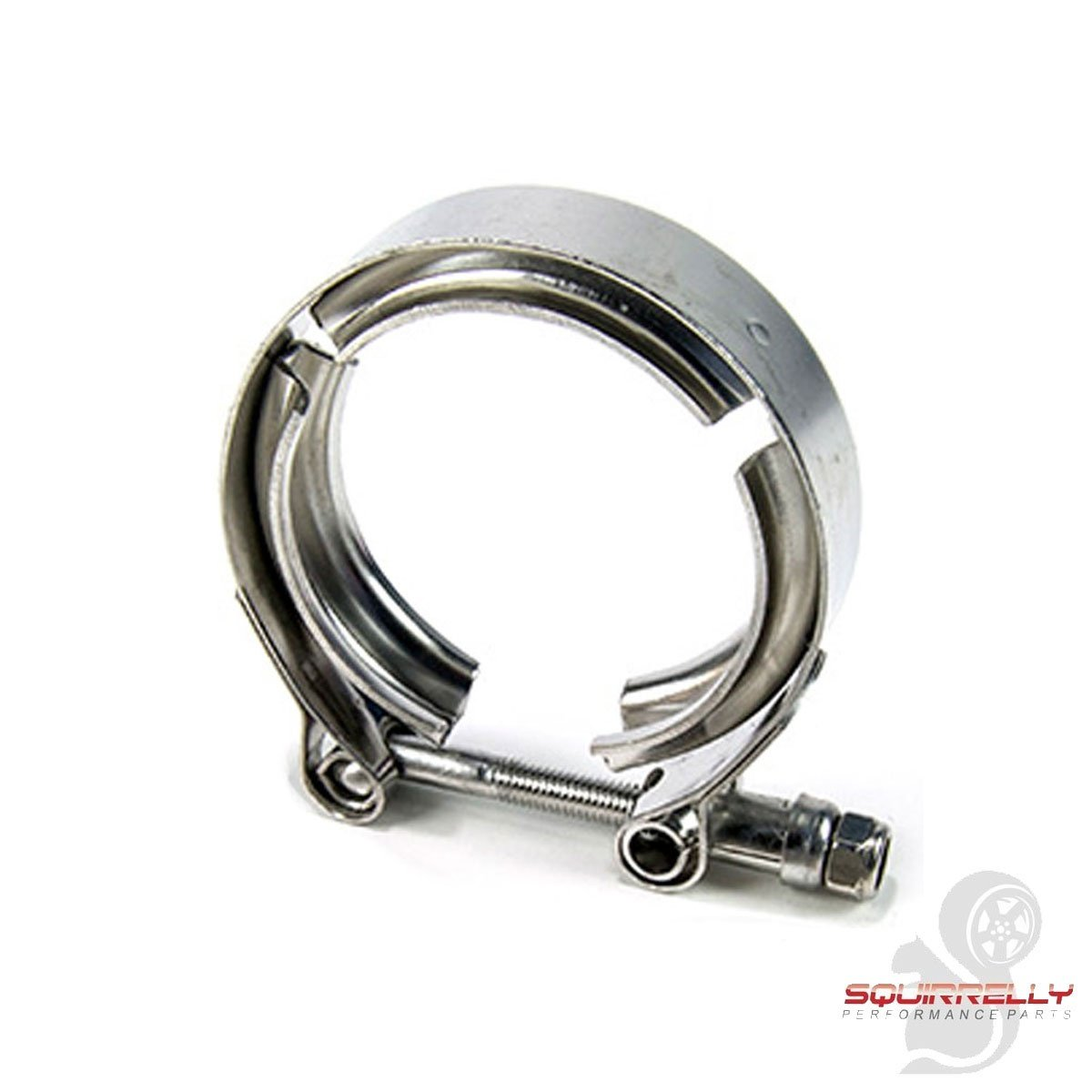 Squirrelly Universal 3.5' Inch Stainless Steel V-Band Turbo Downpipe Exhaust Clamp Squirrelly Performance Parts