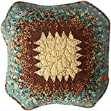 Donna Sharp Sea Breeze Star Quilted Patchwork Octagon Throw Pillow