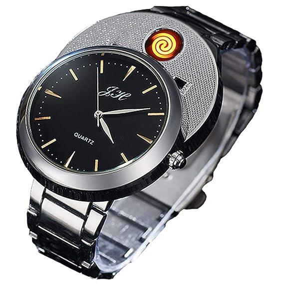 Findtime - Reloj Digital para Hombre (USB, Resistente al Viento)
