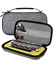 Sisma Carrying Case for Nintendo Switch Lite Console, Travel and Storage Hard Case Holds 10 Game Cartridges and Accessories - Gray