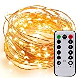 Kohree Fairy String Lights with Remote Control 60 LEDs AA Battery Powered String Copper Wire 20ft/6M,Seasonal Decor Rope