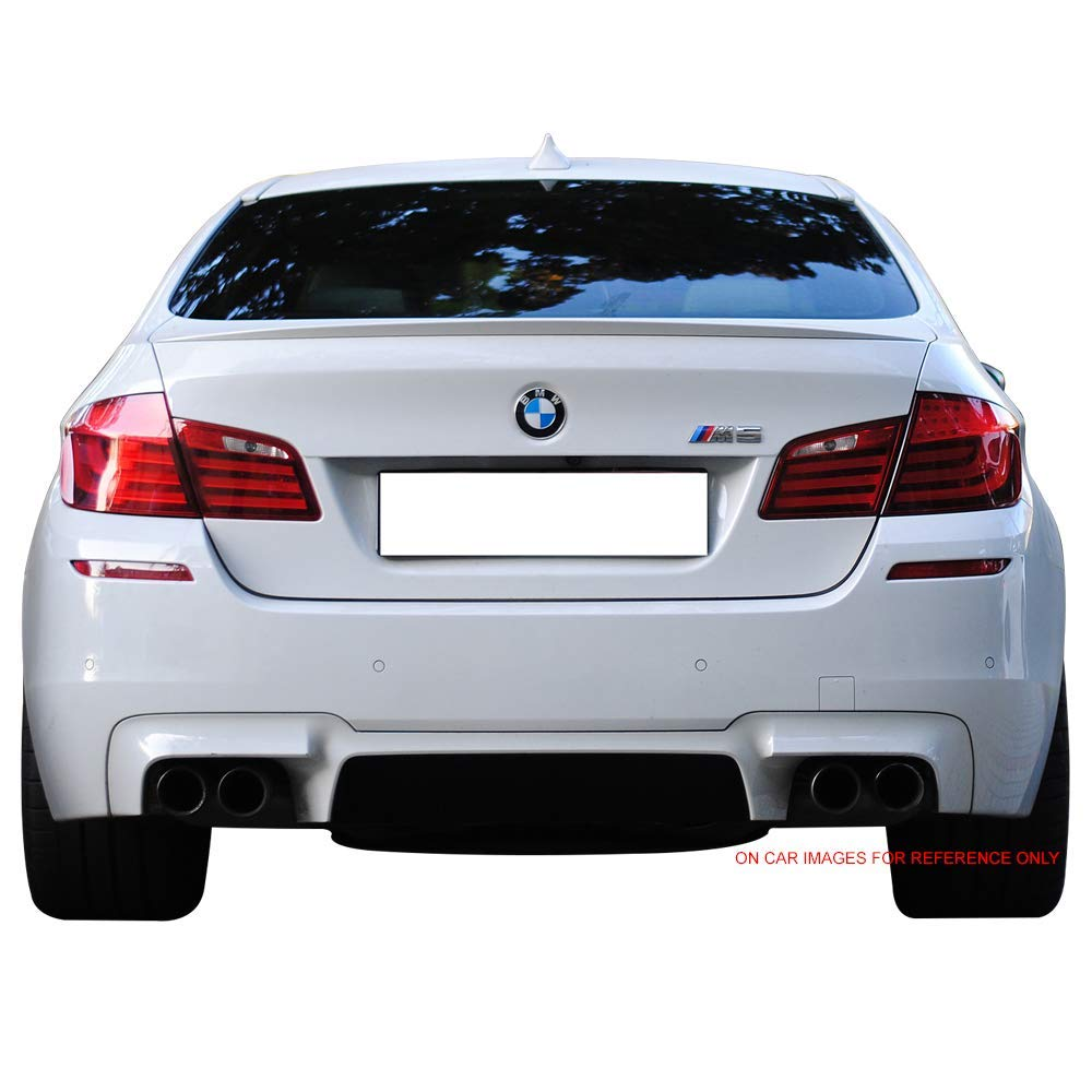 2012 2013 2014 2015 M5 Style Unpainted Raw Material Black ABS Rear Tail Lip Deck Boot Wing by IKON MOTORSPORTS Trunk Spoiler Compatible With 2011-2016 BMW 5-Series F10