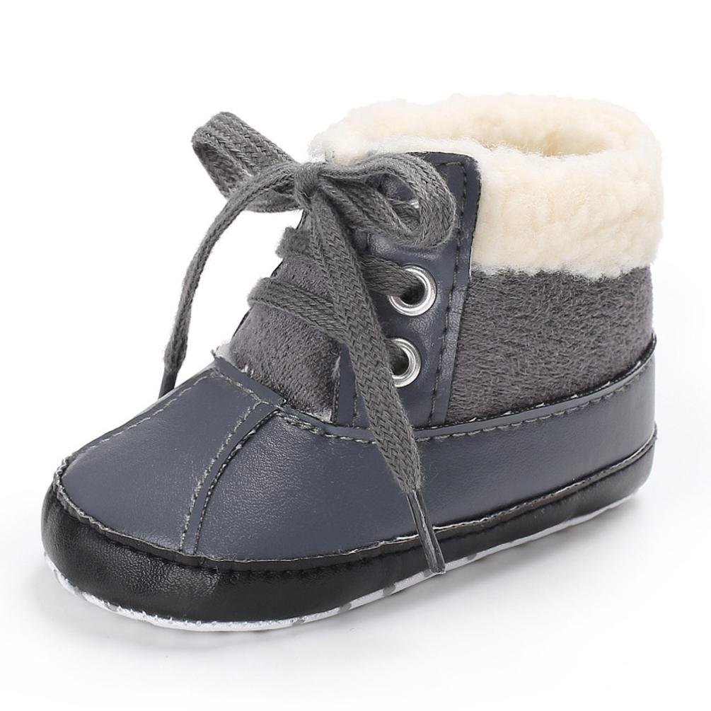 Baby Boots, Yuxing Toddler Baby Boy Girl Cute Soft Winter Crib Snow Boots Warm Shoes