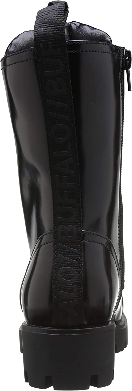 Buffalo Damen Frenja Stiefeletten Schwarz Black Brush 001