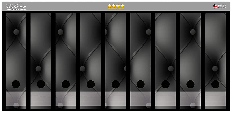 Wallario Ordnerrücken selbstklebend 12 breite Ordner Schwarze Schiefertafel