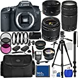 Best Cameras - Canon EOS 7D DSLR Camera Triple Lens Bundle Review