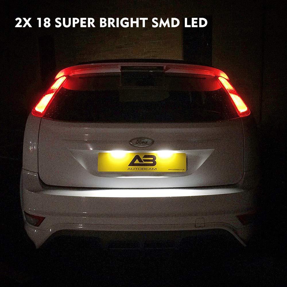 Ford Galaxy 2006 /> Led número de matrícula luz lámpara de xenón blanco bombillas actualización