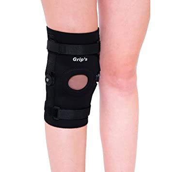 4cb803d9dd Buy Knee Cap/Pads/Support/Guard with Hinges for Knee Pain/Arthritis/Gym  from Grip's Large (G01) Online at Low Prices in India - Amazon.in