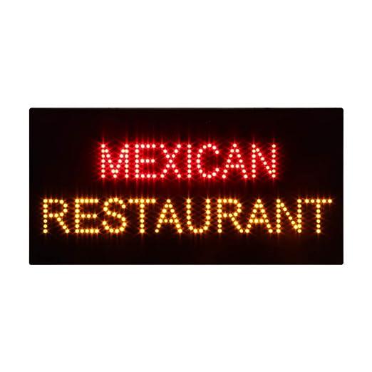 Cartel de luz LED mexicana para restaurante, superbrillante ...