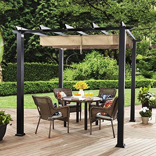 - Better Homes and Gardens Meritmoor Aluminum and Steel Pergola