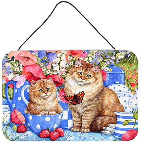 "UPC 638508157195, Caroline's Treasures CDCO0200DS812 Blue Cats Wall or Door Hanging Prints, 8""H x 12""W, Multicolor"