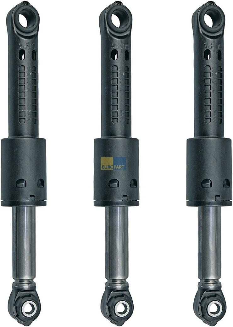 Bosch Siemens 742719 00742719 Set de 3 amortiguadores originales 80N Suspa para lavadora, también Balay Constructa Gaggenau Neff Pitsos Profilo Tecnik
