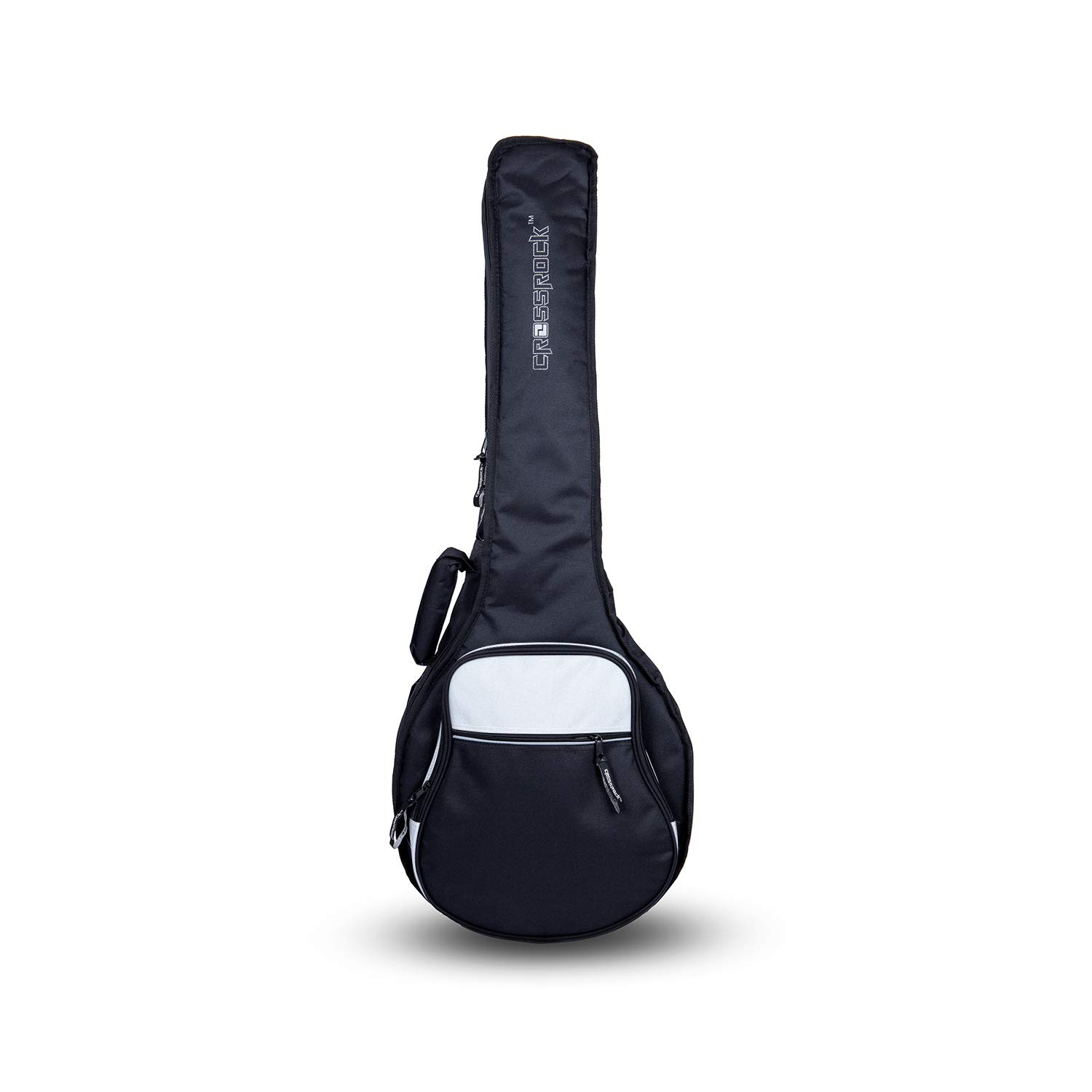 Crossrock 10mm Padding Gig Bag for Open Back /& Resonator Banjos Backpack Straps Black CRSG106BJBK