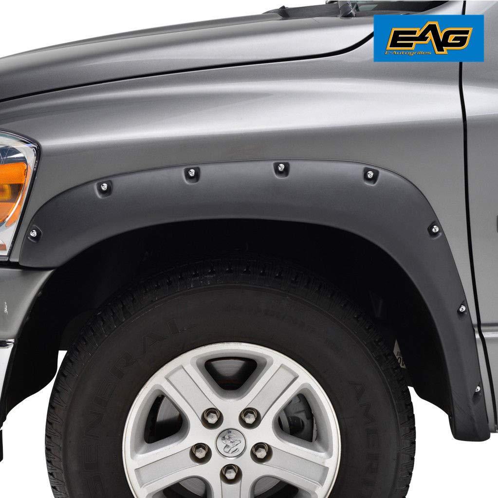 EAG Fender Flares Rivet Style Bolt on Pocket Fit 02-08 Dodge Ram 1500//03-09 Dodge Ram 2500//3500 HD