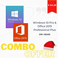 Windows 10 Professional + Office 2019 Professional Plus Activation Key Code Combo Pack (Amazon Massage)
