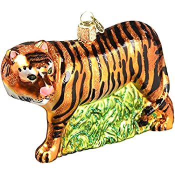 Old World Christmas Tiger Glass Blown Ornament