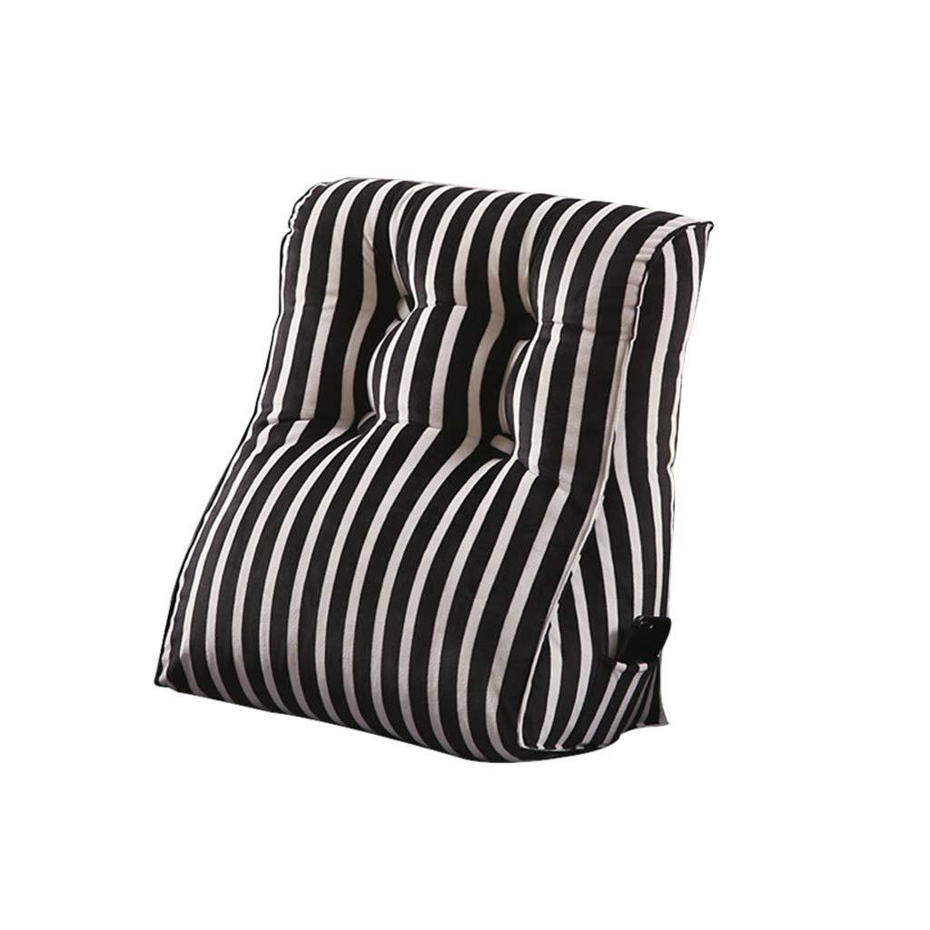 DUHUI Bed Wedge, Wedge für Wohnzimmer und Schlafzimmer, Sleeping Wedge, um die Wirbelsäule zu entlasten Pill Stillkissen fürs Liegen und Sitzen (Farbe : SCHWARZ, größe : 45x55x30cm)