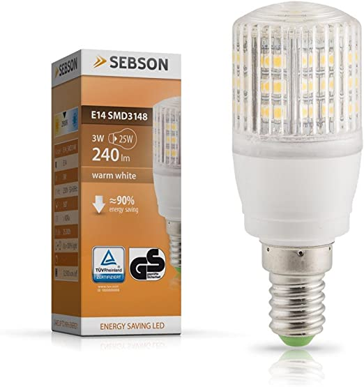 LED 3 W Leuchtmittel E14 Energie Spar Lampe 300 Lumen warmweiß Energieklasse A++